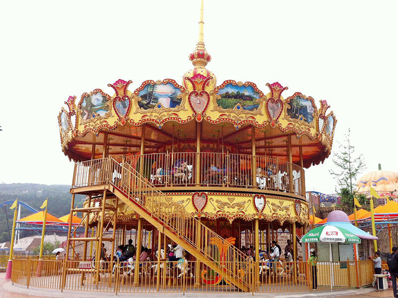 Double Deck Carousel  Merry Go Round Horses Ride DW-88A