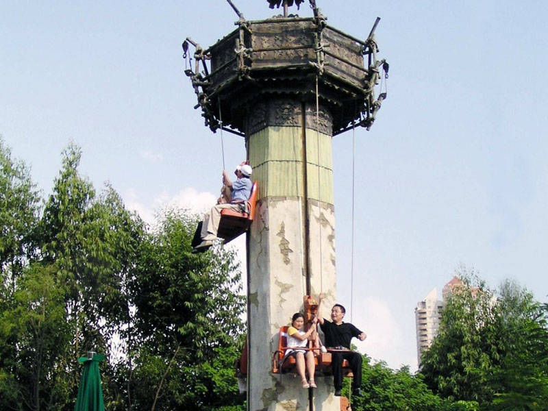 Scenery Tower Amusement Park Kiddie Ride GGT-8C