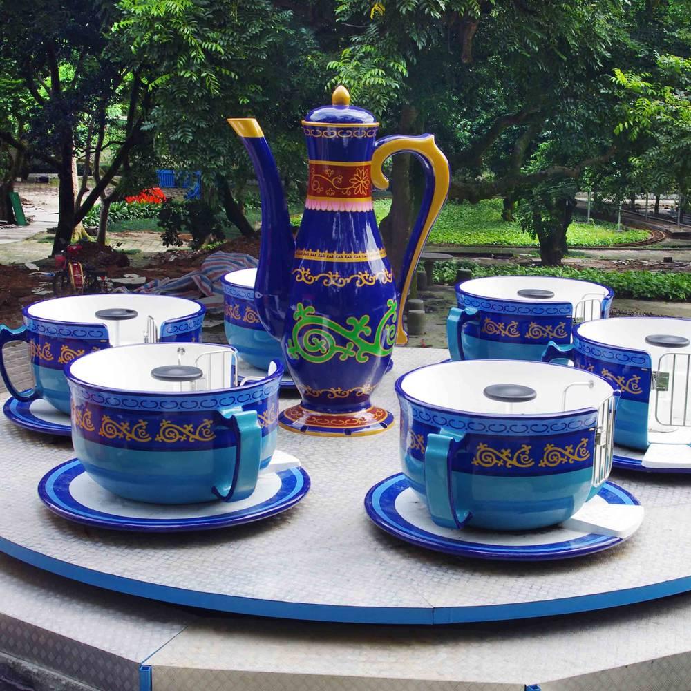 Family Children Tea Cup Park Ride  ZB-24A