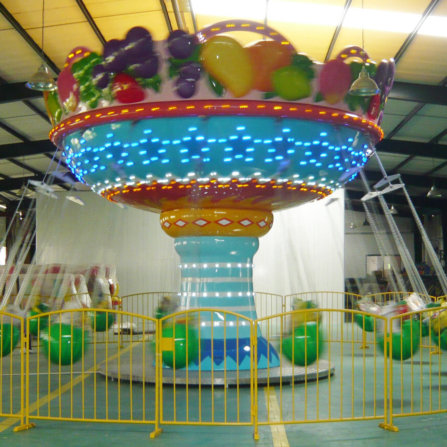 Kids Amusement Ride Rotary Fruit Swing Flying Chair FY-16A
