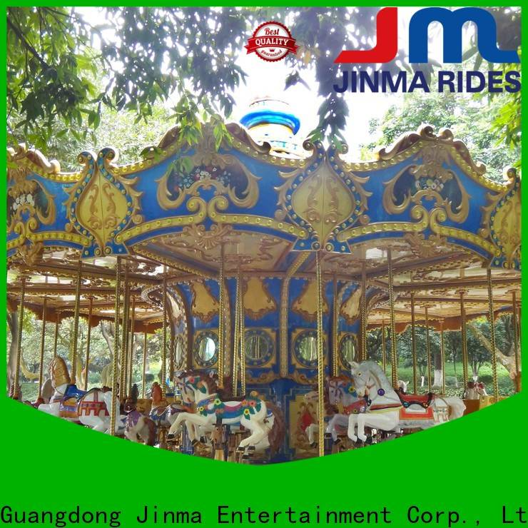 Jinma Rides double decker merry go round company for promotion