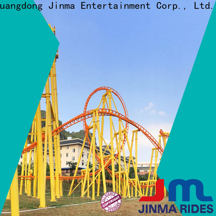 Jinma Rides orange roller coaster Suppliers for sale
